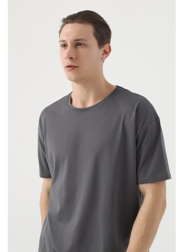 TWN Oversize Düz T-Shirt Antrasit